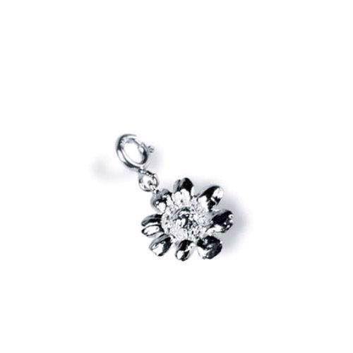 Flora Danica sølv marguerit charm