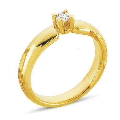 Copenhagen 14 karat Rødguld solitaire ring med 0,83 carat brillant
