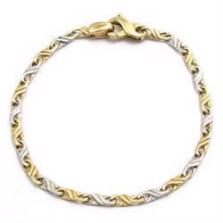 Aquarius stripe, 14 kt rød- og hvid guld fra Houmann I/S