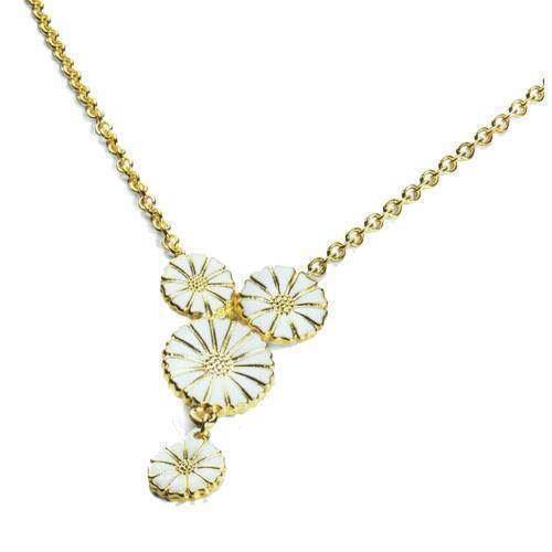 Lund Marguerit halskæde med fire blomster