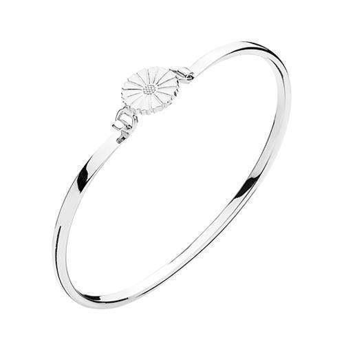 903011-H, Lund Marguerit armring i sterling sølv med sølv med hvid emalje
