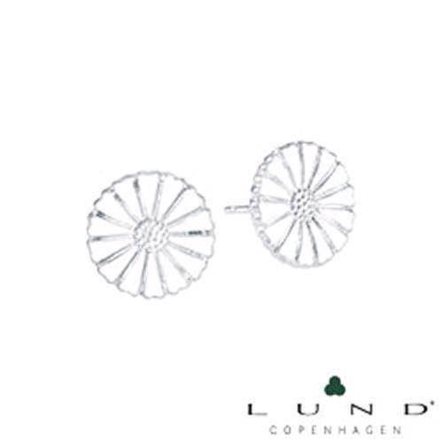 11 mm hvide 925 sølv Marguerit ørestik fra Lund Copenhagen