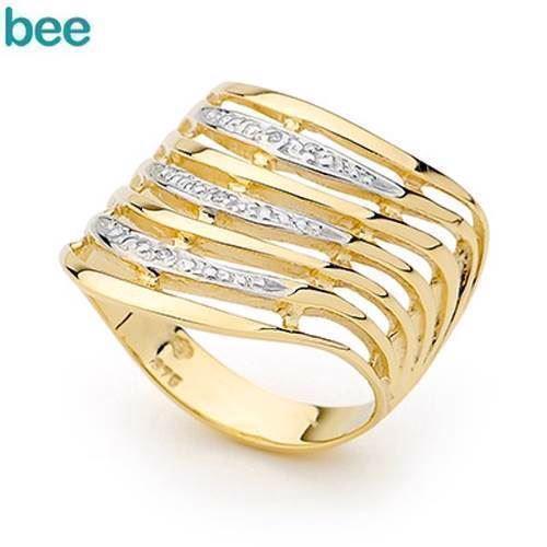 De syv ønskers Guld ring med 3 diamanter