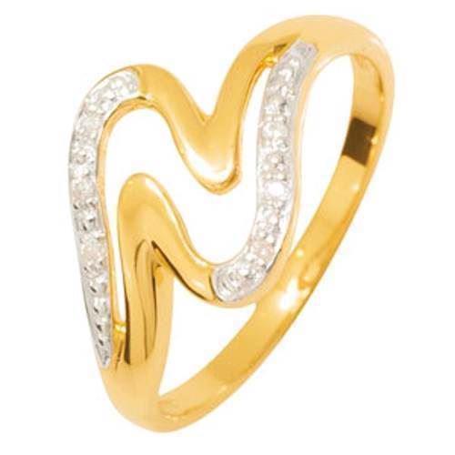 Rødgulds ring med 6 diamanter
