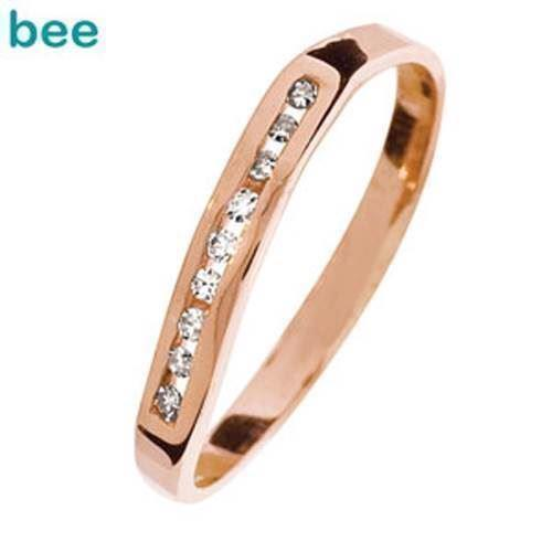 Rosaguld diamant ring med 9 stk 0,01 ct diamanter