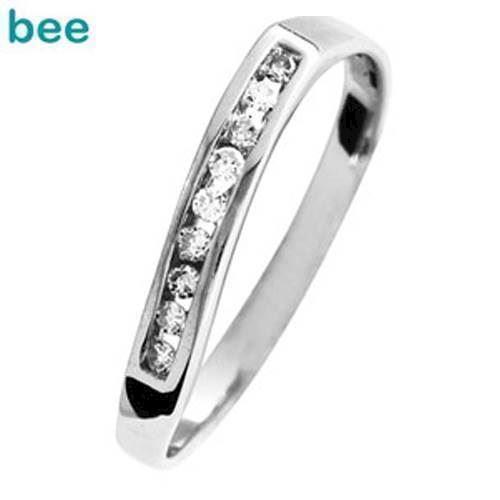 Hvidgulds diamant ring med 9 stk 0,01 ct diamanter